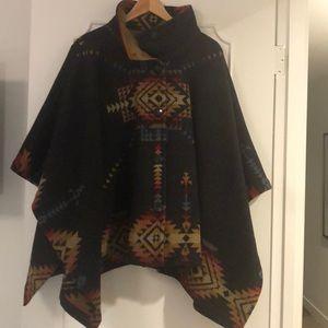 Pendleton Wool Poncho/Cape